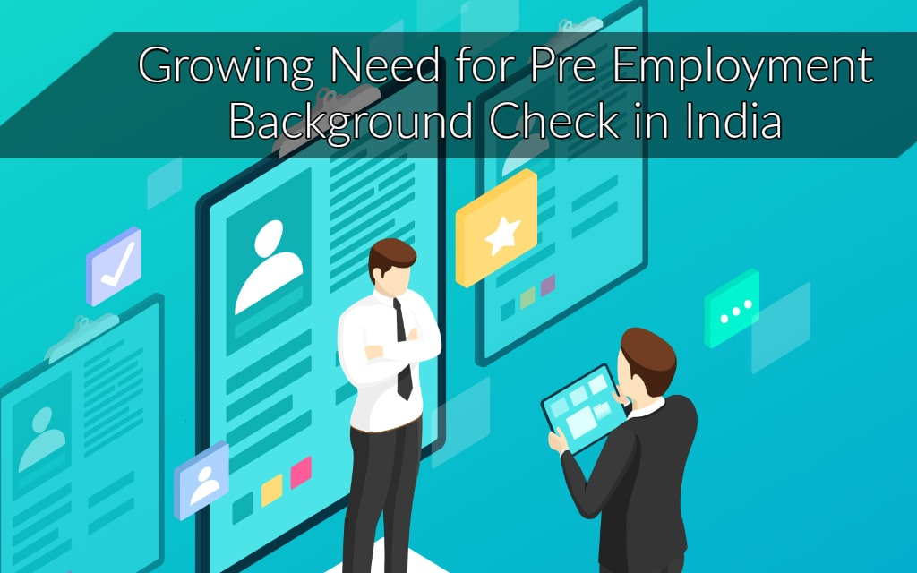 pre-employment background check in India
